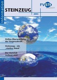 STEINZEUG Information 2005 - Fachverband Steinzeugindustrie eV