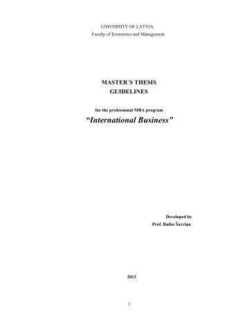 """International Business"" - EVF"