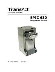 Epic 630 Programmer's Guide - TransAct