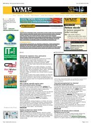 WME Weekly, Environment Business News - WME magazine