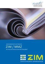 ZIM / MMZ - Heinrich-Heine-Universität Düsseldorf