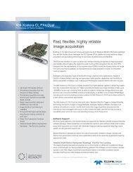 Xcelera-CL PX4 Dual Datasheet - Teledyne DALSA Inc