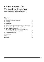Kleiner Ratgeber für Verwandtenpflegeeltern - Www User Uni Bremen