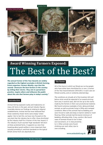 Download a copy of the full report - Animal Aid