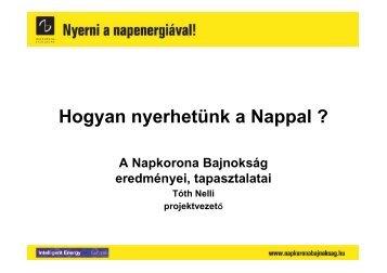 Napkorona bajnokság önkormányzatok részére - Magyar ...