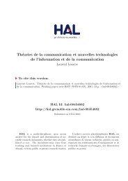 Théories de la communication et nouvelles technologies de l ...