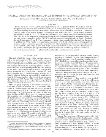 SPECTRAL ENERGY DISTRIBUTIONS AND ... - BATC home page
