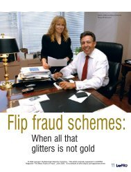 Flip fraud schemes: When all that glitters is not gold - practicePRO.ca