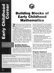 Building Blocks of Early Childhood Mathematics