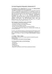 Curriculum Evangelische Religionslehre Sekundarstufe II
