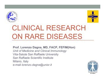 CLINICAL RESEARCH ON RARE DISEASES - FDIME