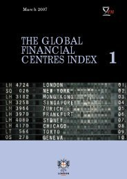 The Global Financial Centres Index - 1 - Z/Yen