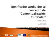 Contextualización Curricular - Faculdade de Psicologia e de ...