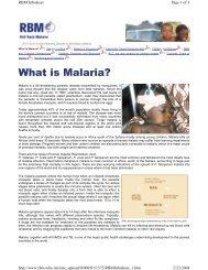 Rice Fact Sheet - Roll Back Malaria - Rice Knowledge Bank