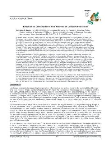 Habitat Analysis Tools - ICOET