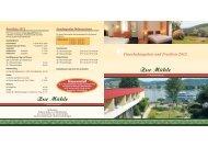 Pauschalangebote und Preisliste 2012 - Hotel Zur Mühle, Bad Breisig
