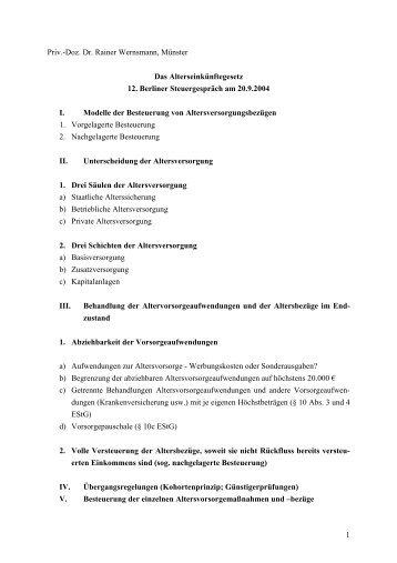 Doz. Dr. Rainer Wernsmann zum 12. Berliner Steuergespräch (PDF ...