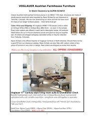 VOGLAUER Austrian Farmhouse Furniture - Alpen Schatz