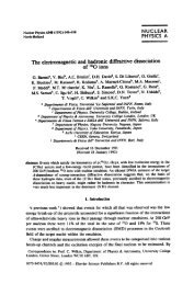 NUCLEAR PHYSICS A e electromagnetic and hadronic ...
