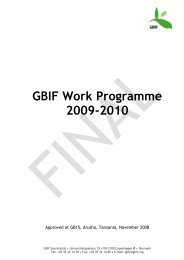 GBIF Work Programme 2009-2010 - Gbif.es