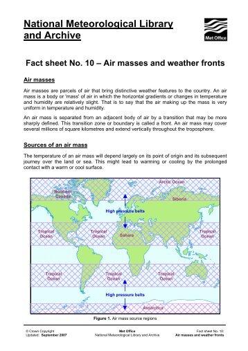 Fact Sheet 10 - Met Office