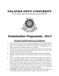 Examination Program - Nalanda Open University