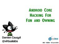 Android core hacking for fun and owning