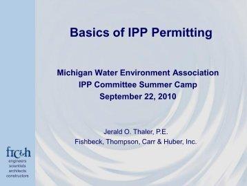 Presentation Title - Michigan Water Environment Association
