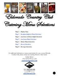 Banquet Menus 5-5-07