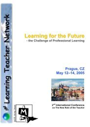 Prague 2005 Conference Brochure - The Learning Teacher Network