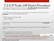 Professional Development Trade-Off Day Procedure 2013-2014