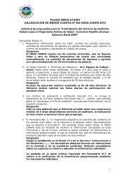 Pliego Absolutorio - Organismo Andino de Salud