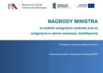 NAGRODY MINISTRA - Ministerstwo Nauki i Szkolnictwa Wyższego