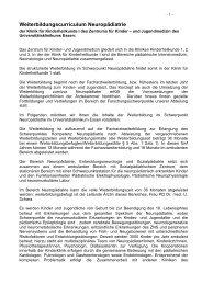 Curriculum Neuropädiatrie - Klinikfinder.de