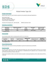 Nickel Powder Type 255 - Vale.com