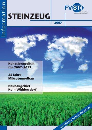STEINZEUG Information 2007 - Fachverband Steinzeugindustrie eV