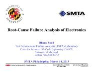 Root-Cause Failure Analysis of Electronics - SMTA