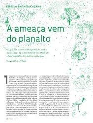 A ameaça vem do planalto - Revista Pesquisa FAPESP
