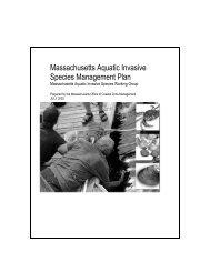 Massachusetts Aquatic Invasive Species Management Plan
