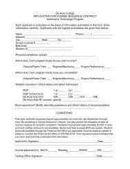 Application Course Sequence Contract - De Anza College