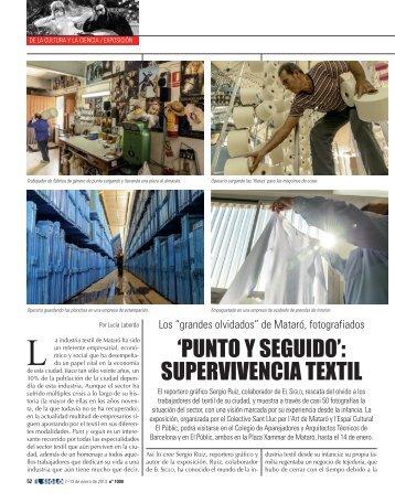 'PUNTO Y SEGUIDO': SUPERVIVENCIA TEXTIL - El Siglo