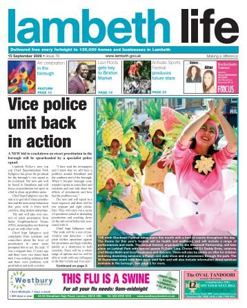 Vice police unit back in action - Lambeth Council