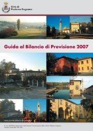 Guida al Bilancio di Previsione 2007 - Sito Istituzionale del Comune ...