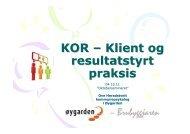 4-5b KOR - Klient og resultatstyrt praksis - Fjell kommune