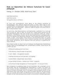 Rede zur Diplomfeier der Höheren Fachschule für Sozial ...