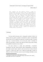 Produtividade Total dos Fatores e Acumulação de Capital no Brasil ...