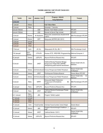takwim 2013 ikut bulan latest.xlsx