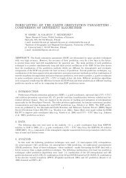FORECASTING OF THE EARTH ORIENTATION PARAMETERS ...