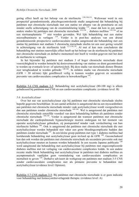 Chronische Nierschade - Kwaliteitskoepel