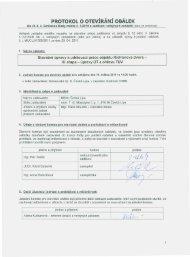07 - Protokol o otevírání obálek (01/06/2011, pdf ... - Město Česká Lípa